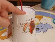 Отчёт по занятию Домик из картонного стаканчика в Wachanga!