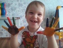 Отчёт по занятию Цветные пальчики в Wachanga!