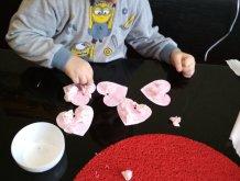 Отчёт по занятию Сердечки из бумаги в Wachanga!