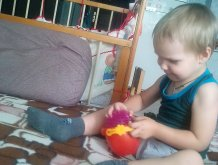 Отчёт по занятию Поиграйте с массажными мячиками  в Wachanga!