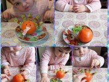 Отчёт по занятию Сделайте вместе с малышом индюка из апельсина в Wachanga!