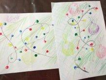 Отчёт по занятию Нарисуйте новогоднюю гирлянда в Wachanga!