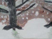 Отчёт по занятию Рисуем зимний пейзаж в Wachanga!