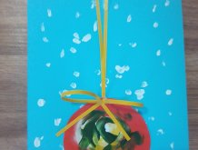 Отчёт по занятию Новогодняя открытка руками малыша в Wachanga!