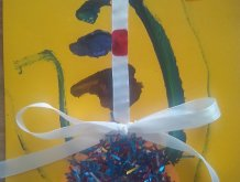 Отчёт по занятию Открытка «Ёлочный шарик» в Wachanga!