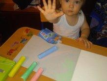 Отчёт по занятию Порисуйте вместе с ребёнком мелом на цветной бумаге в Wachanga!