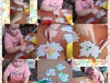 Отчёт по занятию Сделайте вместе с малышом листочки  в Wachanga!
