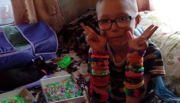 Отчёт по занятию Займитесь с ребенком плетением браслетов из резиночек в Wachanga!