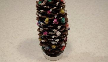 Отчёт по занятию Новогодние ёлочки из шишек в Wachanga!