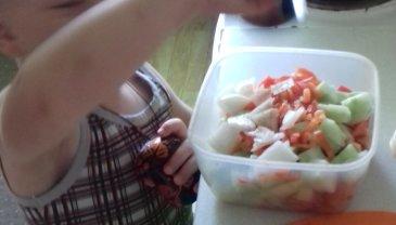 Отчёт по занятию Делаем салат в Wachanga!