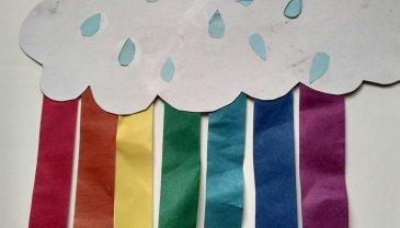 Отчёт по занятию Радуга из цветной бумаги в Wachanga!