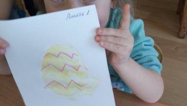 Отчёт по занятию Нарисуйте вместе с малышом пасхальную открытку в Wachanga!