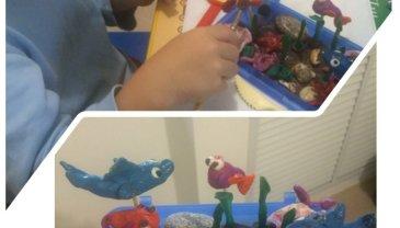 Отчёт по занятию Сделайте вместе с ребенком поделки из пластилина и макарон в Wachanga!