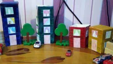 Отчёт по занятию Смастерите вместе с ребенком игрушечный городок в Wachanga!