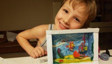 Отчёт по занятию Сделайте аквариум из бумаги в Wachanga!