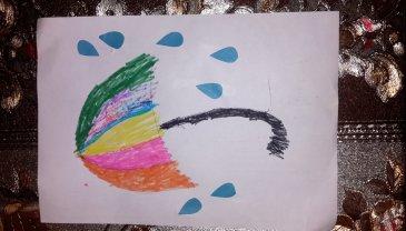 """Отчёт по занятию Поделка """"Разноцветный зонтик"""" в Wachanga!"""