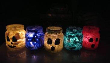 Отчёт по занятию Сделайте вместе с ребенком подсвечники на Хэллоуин  в Wachanga!