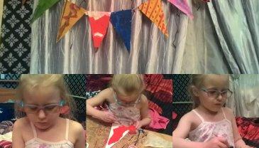 Отчёт по занятию Сделайте вместе с ребенком праздничные флажки из бумаги в Wachanga!