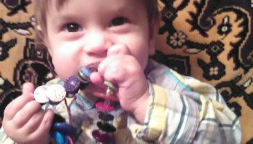 Отчёт по занятию Браслет из пуговиц для малыша в Wachanga!