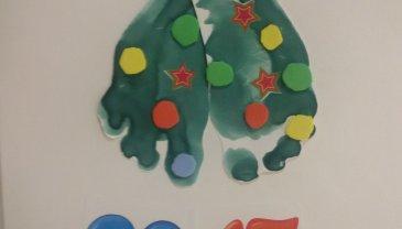 Отчёт по занятию Ножки ёлочкой: оригинальная открытка в Wachanga!