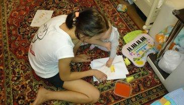 Отчёт по занятию Рисование поролоновыми губками  в Wachanga!