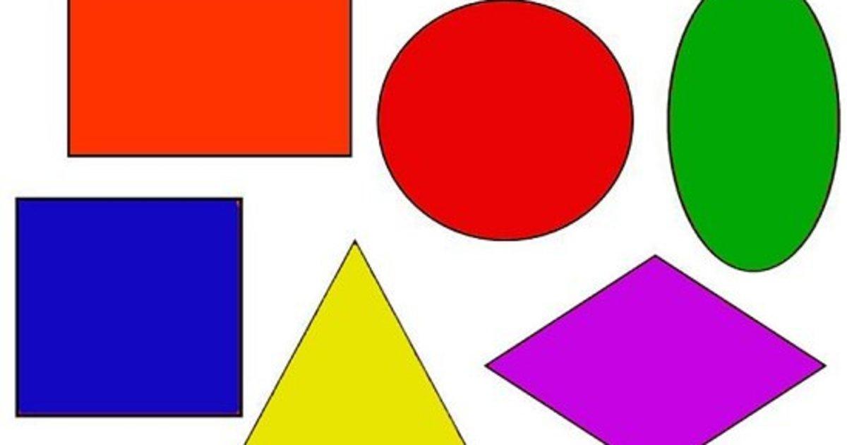 Картинки геометрические фигуры в детском саду