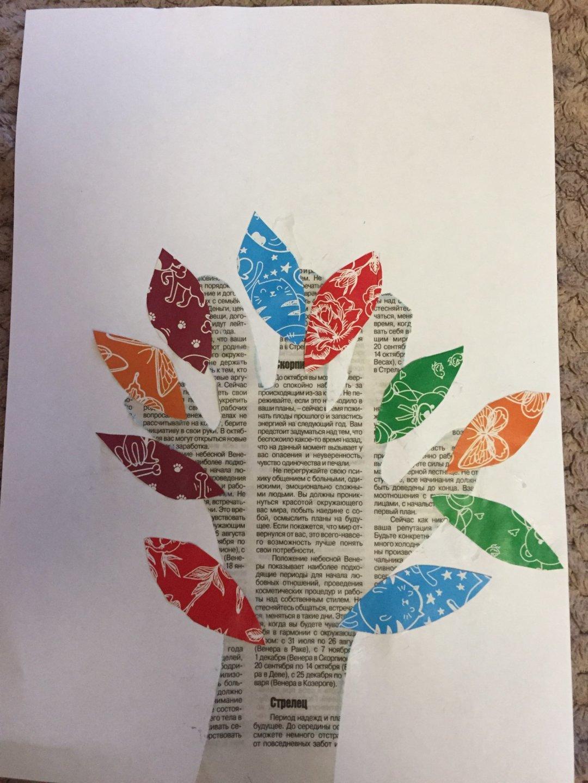 """Отчёт по занятию Аппликация """"Осеннее дерево"""" в Wachanga!"""