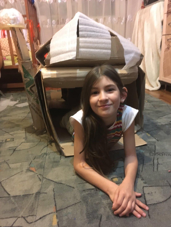 Отчёт по занятию Крепость из коробок в Wachanga!