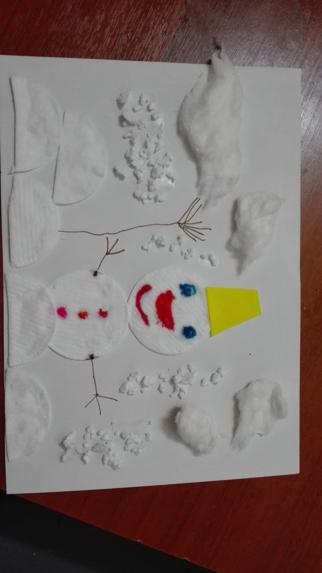 """Отчёт по занятию Аппликация """"Снеговик"""" в Wachanga!"""