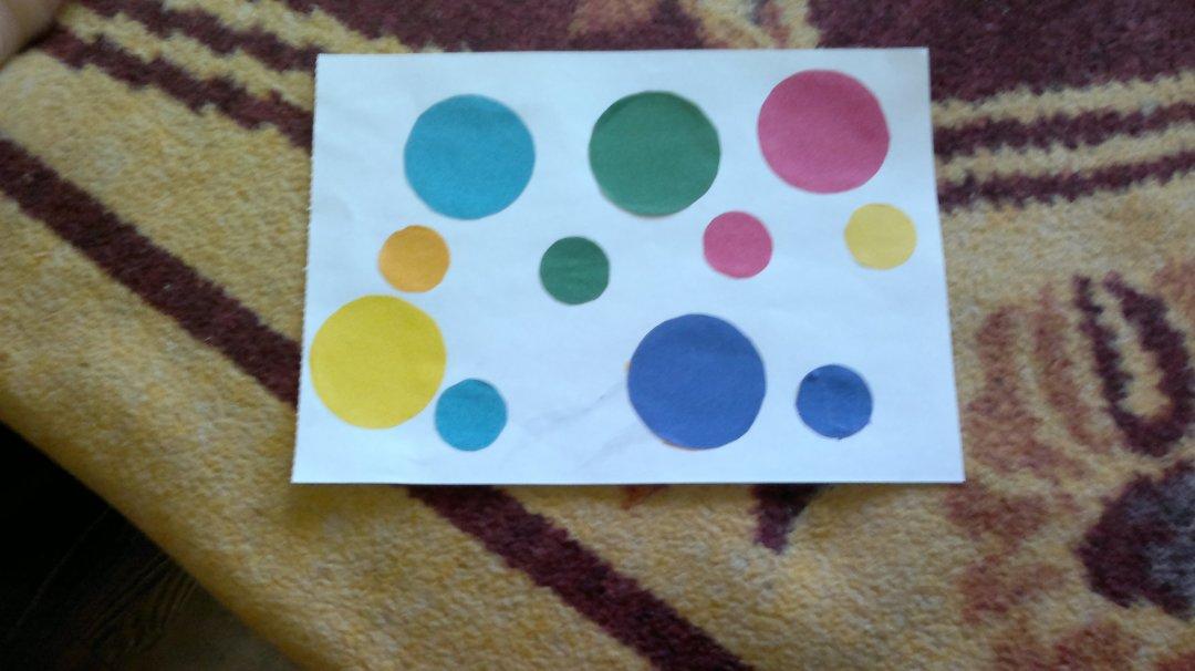 Отчёт по занятию Сделайте вместе с малышом аппликацию «Разноцветные круги» в Wachanga!