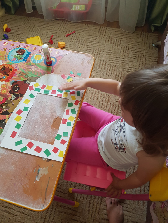Отчёт по занятию Фоторамка руками ребёнка в Wachanga!
