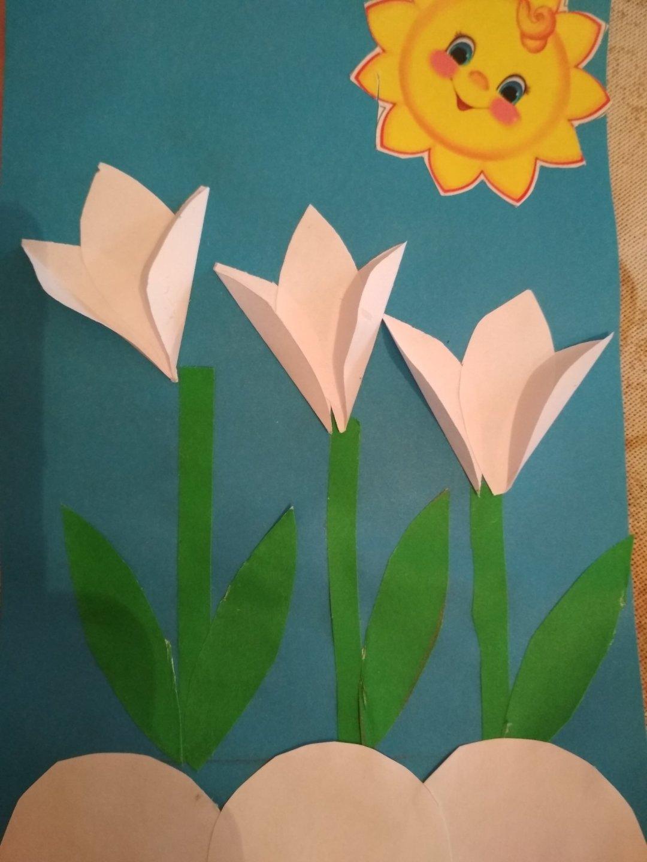 """Отчёт по занятию Аппликация """"Весенние цветы"""" в Wachanga!"""