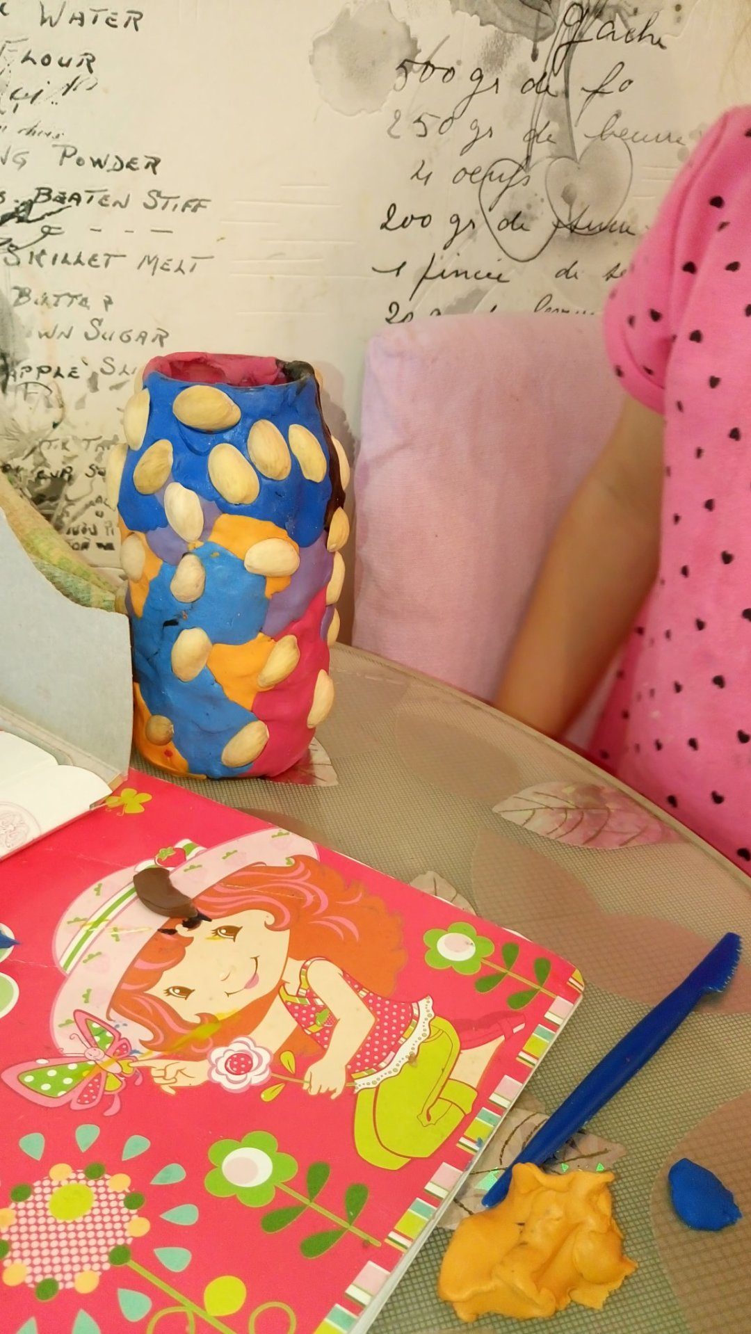 Отчёт по занятию Декорирование бутылки пластилином и ореховой скорлупой в Wachanga!