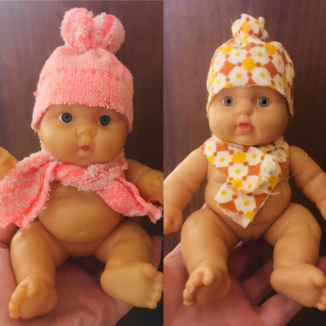 Отчёт по занятию Сшейте вместе с малышом шапочку и шарфик для куклы в Wachanga!