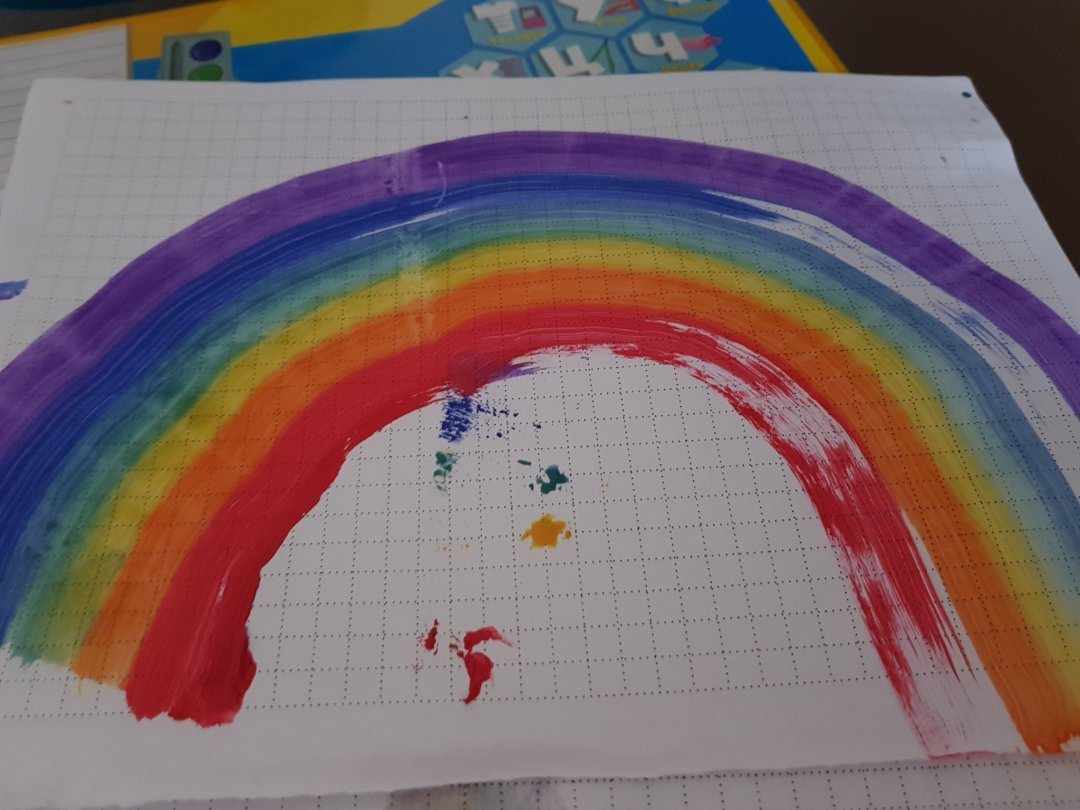Отчёт по занятию Нарисуйте радугу с помощью губки в Wachanga!