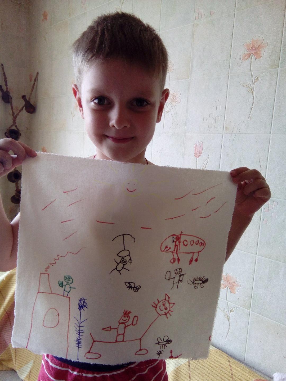 Отчёт по занятию Порисуйте на ткани в Wachanga!