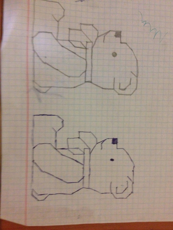 Отчёт по занятию Рисунки по клеточкам в Wachanga!