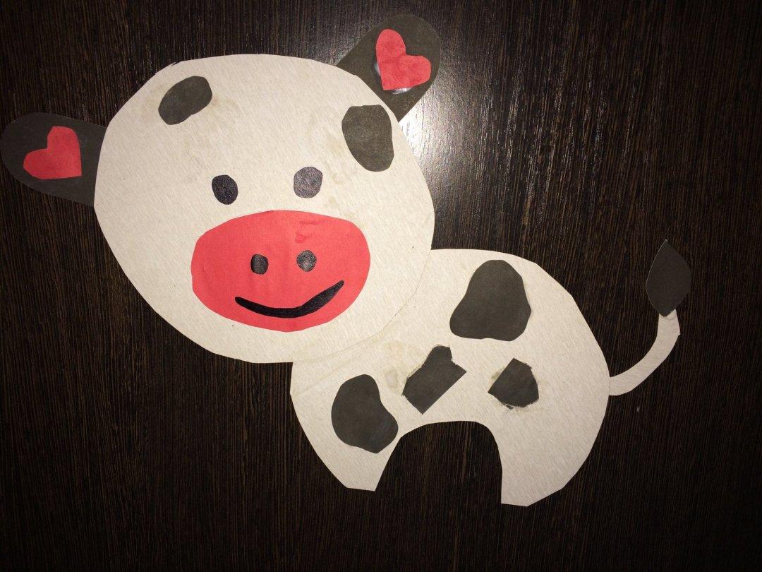 Отчёт по занятию Сделайте бычка из одноразовой тарелки в Wachanga!