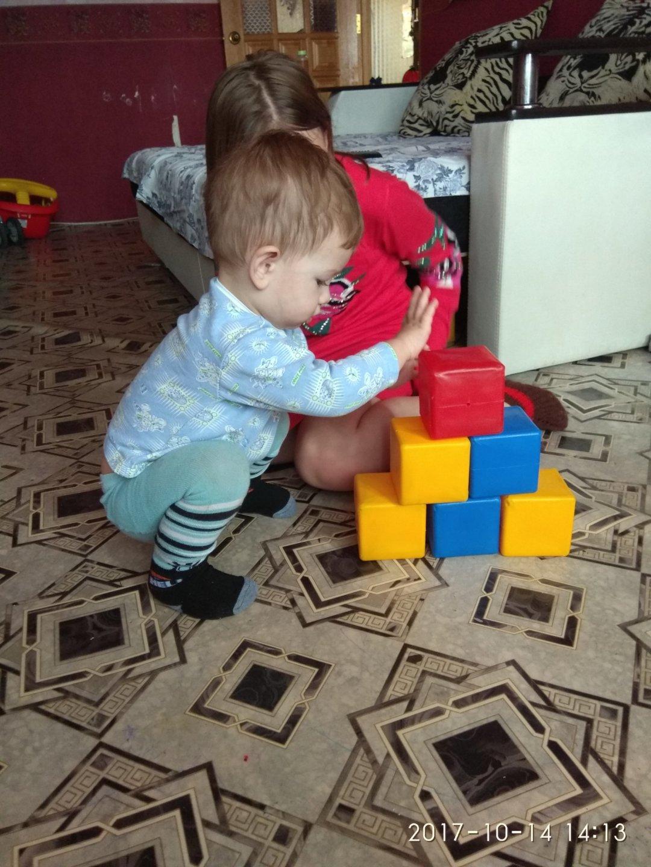 Отчёт по занятию Предложите малышу поиграть с мягкими кубиками в Wachanga!