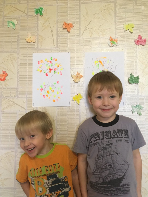 Отчёт по занятию Украсьте вместе с ребенком комнату осенними листьями в Wachanga!