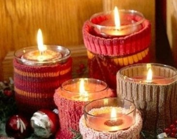 «Warm» candleholders