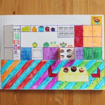 Make a paper doll house!