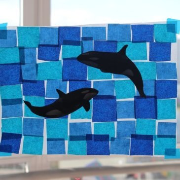 "Make with your kid an applique ""The Sharks"""