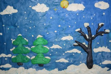 Winter plasticine applique