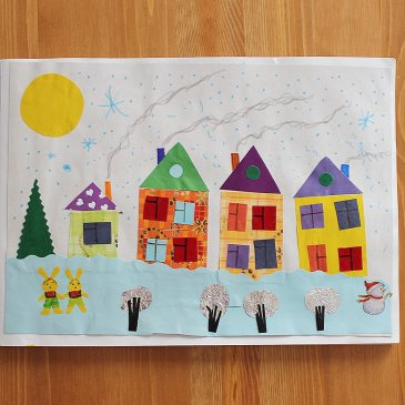 Сделайте вместе с ребенком тематический альбом «Зима»!