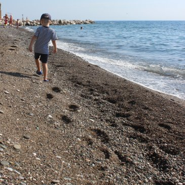 Take a walk with your little one along the seashore