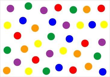 Сделайте вместе с малышом аппликацию «Разноцветные круги»