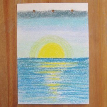 Draw the Sea with your kid using pastels