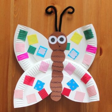 Make a butterfly with your kid