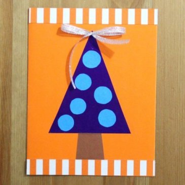 Make a Christmas card with your kid